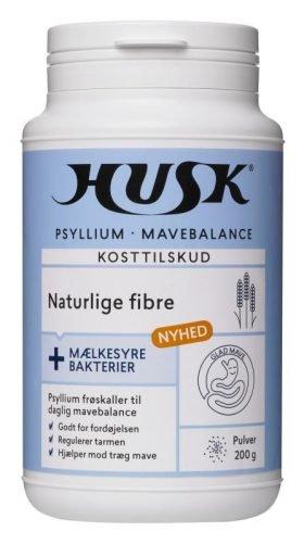 HUSK® Psyllium Mavebalance + mælkesyrebakterier 200g