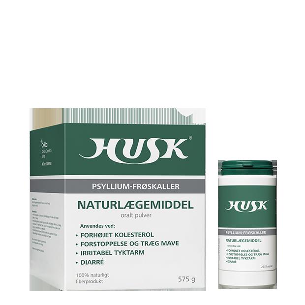 HUSK® Naturlægemiddel Psyllium-frøskaller - pulver og kapsler